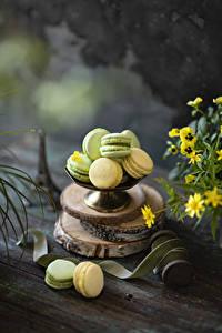 Обои Печенье Доски Макарон Разноцветные Еда