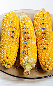 Фотографии Кукуруза Трое 3 Еда