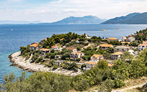 Фотография Хорватия Здания Море Залива Prigradica город