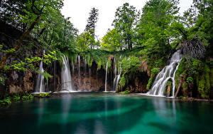 Фото Хорватия Парки Озеро Водопады Plitvice lakes