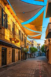 Фото Республика Кипр Здания Улица Nicosia Города