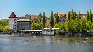Фотографии Чехия Прага Дома Реки