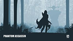 Фото DOTA 2 Phantom assassin mortred Воители Силуэт Игры Фэнтези