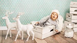 Картинка Олени Младенца Шапка Дети