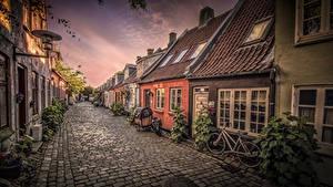 Картинка Дания Дома Улица Aarhus