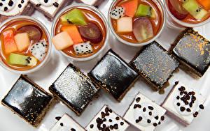 Фотографии Десерт Пирожное Шоколад Желе Кофе