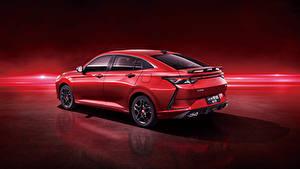 Обои для рабочего стола Красный Металлик Китайская Красном фоне Dongfeng Aeolus Yixuan CTCC Edition, 2021 Автомобили