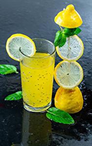 Обои для рабочего стола Напиток Лимоны Лимонад Стакана Еда