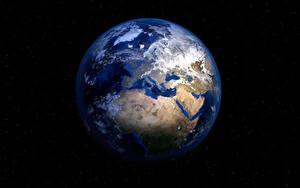 Фотография Земли На черном фоне Космос