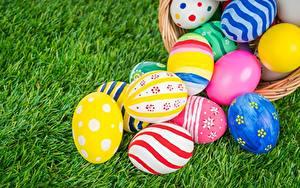 Картинка Пасха Яйцо Разноцветные