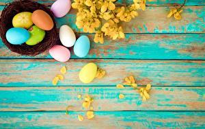Картинка Пасха Яйца Доски