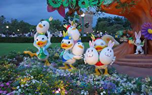 Фотографии Пасха Япония Токио Парк Дизайна Яйцо Disney Resort