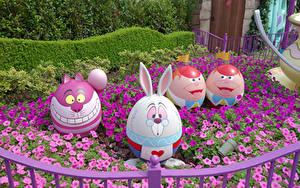 Фото Пасха Япония Токио Парк Петуния Оригинальные Дизайна Яйцо Disney Resort