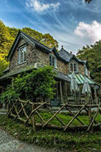 Картинка Англия Дома Дизайна Забора Lynmouth