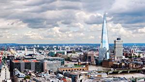 Фотографии Англия Здания Мосты Лондоне Мегаполиса Города