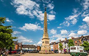 Картинка Англия Дома Памятники Городской площади Улица Ripon