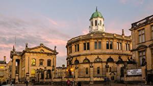 Картинка Англия Дома Oxford, Sheldonian Theatre Города