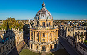 Картинки Англия Здания Библиотека Radcliffe Camera, Oxford