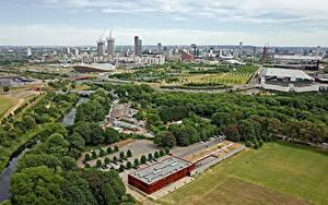 Картинки Англия Здания Реки Парки Лондоне Мегаполис Города