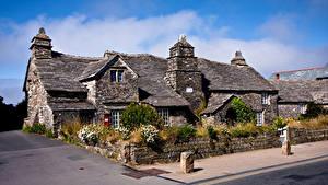 Обои Англия Дома Каменные Крыша Tintagel, old Post office город