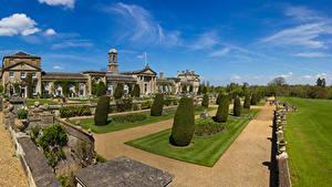 Картинки Англия Парки Дворца Кусты Дизайна Bowood House Wiltshire
