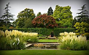 Обои Англия Парки Лондоне King George V Memorial Garden Природа