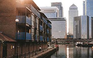 Обои Англия Небоскребы Здания Лондоне state street