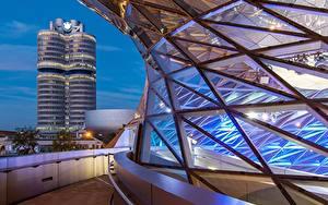 Фотография Вечер Здания Мюнхен Германия Бавария Bmw Welt