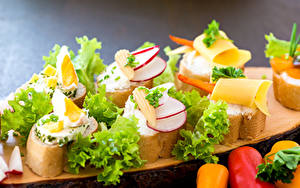 Картинки Быстрое питание Бутерброды Хлеб Овощи Сыры Пища