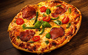 Картинка Быстрое питание Пицца Крупным планом Еда