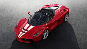 Обои Ferrari Красный Металлик 2017 LaFerrari Aperta Машины