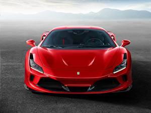 Фотографии Ferrari Красный Спереди F8 Tributo машины