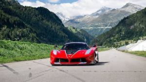 Картинки Ferrari Горы Спереди FXX K Автомобили