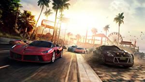 Фотография Ferrari Nissan The Crew Красный Ралли Игры Автомобили