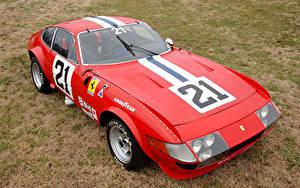 Картинка Ferrari Ретро Стайлинг Красный 1970-71 365 GTB-4 Daytona Competizione (Series I) Pininfarina