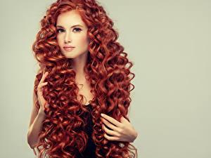 Картинка Пальцы Рыжие Рыжая Волосы Взгляд Девушка Девушки