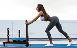 Фотография Фитнес Ноги Красивые Тренируется Спорт Девушки