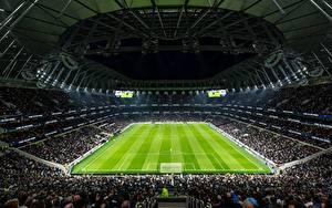 Обои для рабочего стола Футбол Англия Стадион Лондон Tottenham Hotspur Stadium, New White Hart Lane