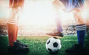 Фото Футбол Ноги Мяч Кроссовки Спорт