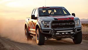Фото Ford Пикап кузов Едущий F-150, Raptor, Race Truck, 2016 машины