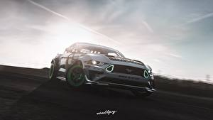 Фотография Ford Forza Horizon 4 Mustang RTR Monster Energy 2019 by Wallpy компьютерная игра Автомобили 3D_Графика