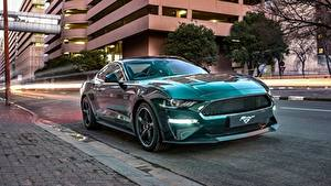 Фото Ford Зеленые Mustang Bullitt 2019