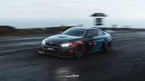 Фотографии Forza Horizon 4 BMW Движение M4 by Wallpy Игры Автомобили 3D_Графика
