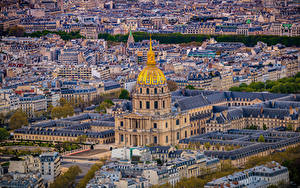 Фотография Франция Дома Париже Сверху Montmartre