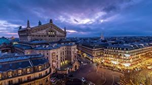 Обои Франция Здания Париже Grand Opéra