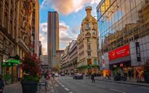 Фото Франция Дома Небоскребы Дороги Париже Улиц Montparnasse Tower