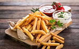 Картинки Картофель фри Фастфуд Продукты питания