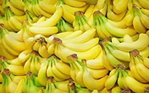 Картинка Фрукты Бананы Много Текстура Еда
