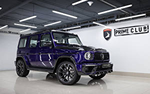 Картинки Гелентваген Mercedes-Benz SUV Фиолетовые Металлик 2020 TopCar G 350 d Violet Inferno автомобиль