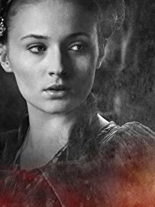 Фото Игра престолов (телесериал) Крупным планом Лица Sansa Stark, Sophie Turner Фильмы Знаменитости Девушки